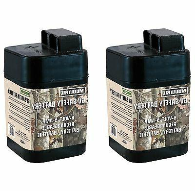 2 6 volt rechargeable safety batteries