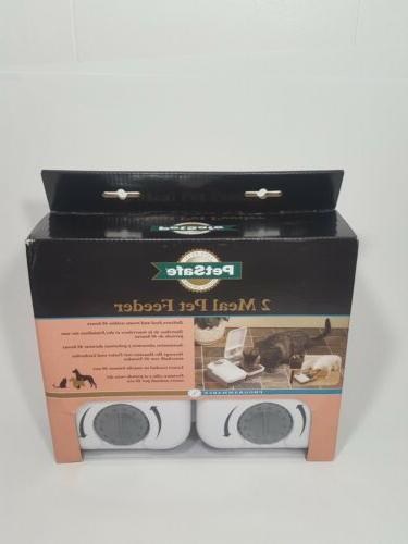 2 meal automatic dog and cat feeder
