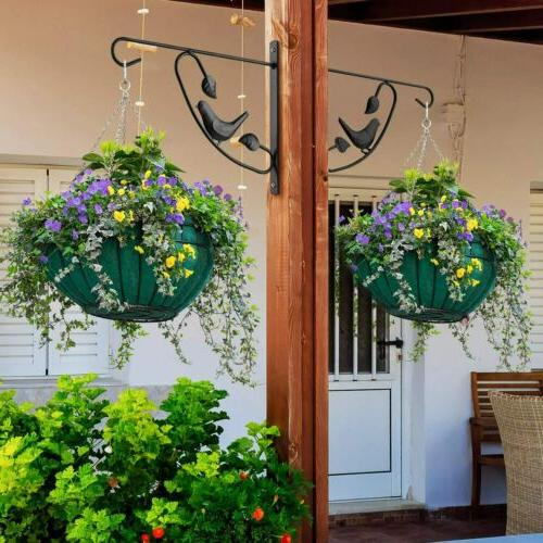 Cast Iron Plant Hanger Hook Brackets for Flower Basket Bird