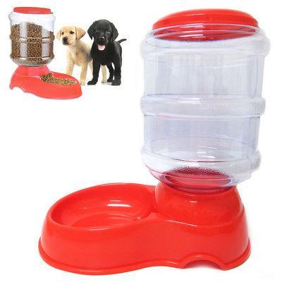3.5L Automatic Pet Feeder Food Dish Bowl Cat Dog Dispenser S