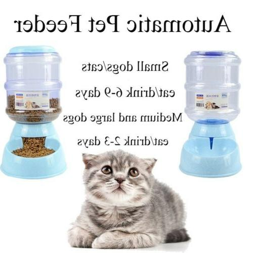 3.8 Automatic Bowl Drinker Dispenser Dogs Cat Puppy Feeder