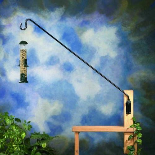 Belle Fleur Extended Reach Metal Wall Pole for Feeders