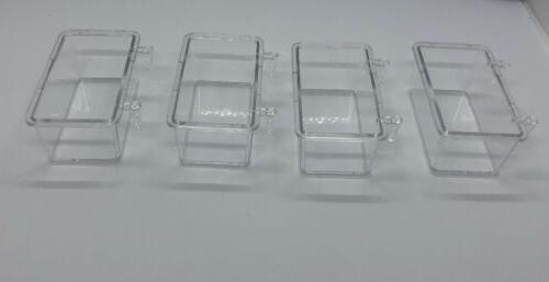4 Bird Cage Clear Cyrstal Plastic Cup container