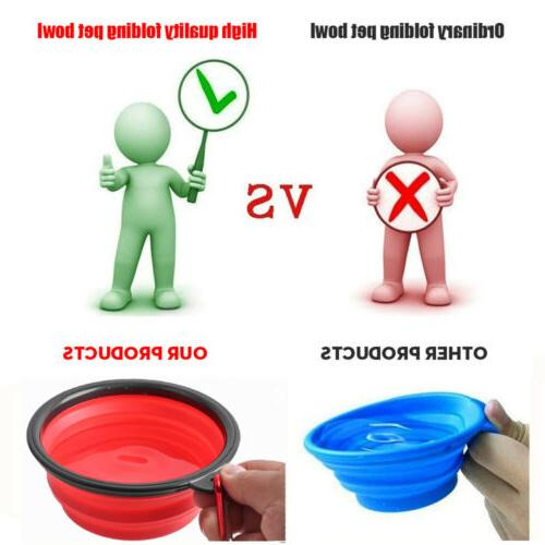 4^Silicone Pet Bowl Water Travel