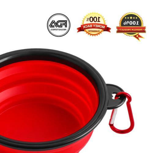 4^Silicone Pet Bowl Water Dish Travel