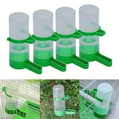 4pcs pack pet bird parrot water feeder