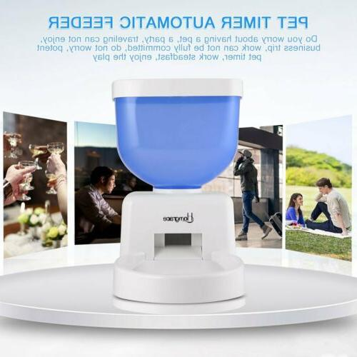 5L Automatic Pet Feeder Programmable Dog Cat Timed Auto Disp