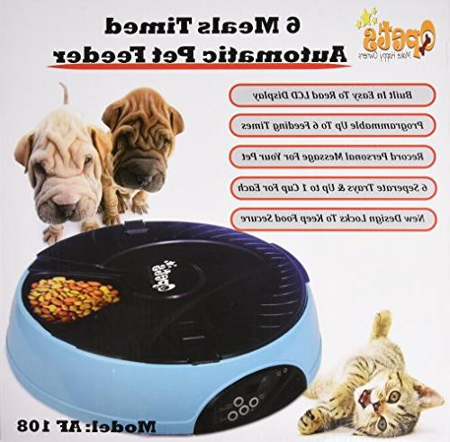 Qpets 6-Meal Automatic Feeder