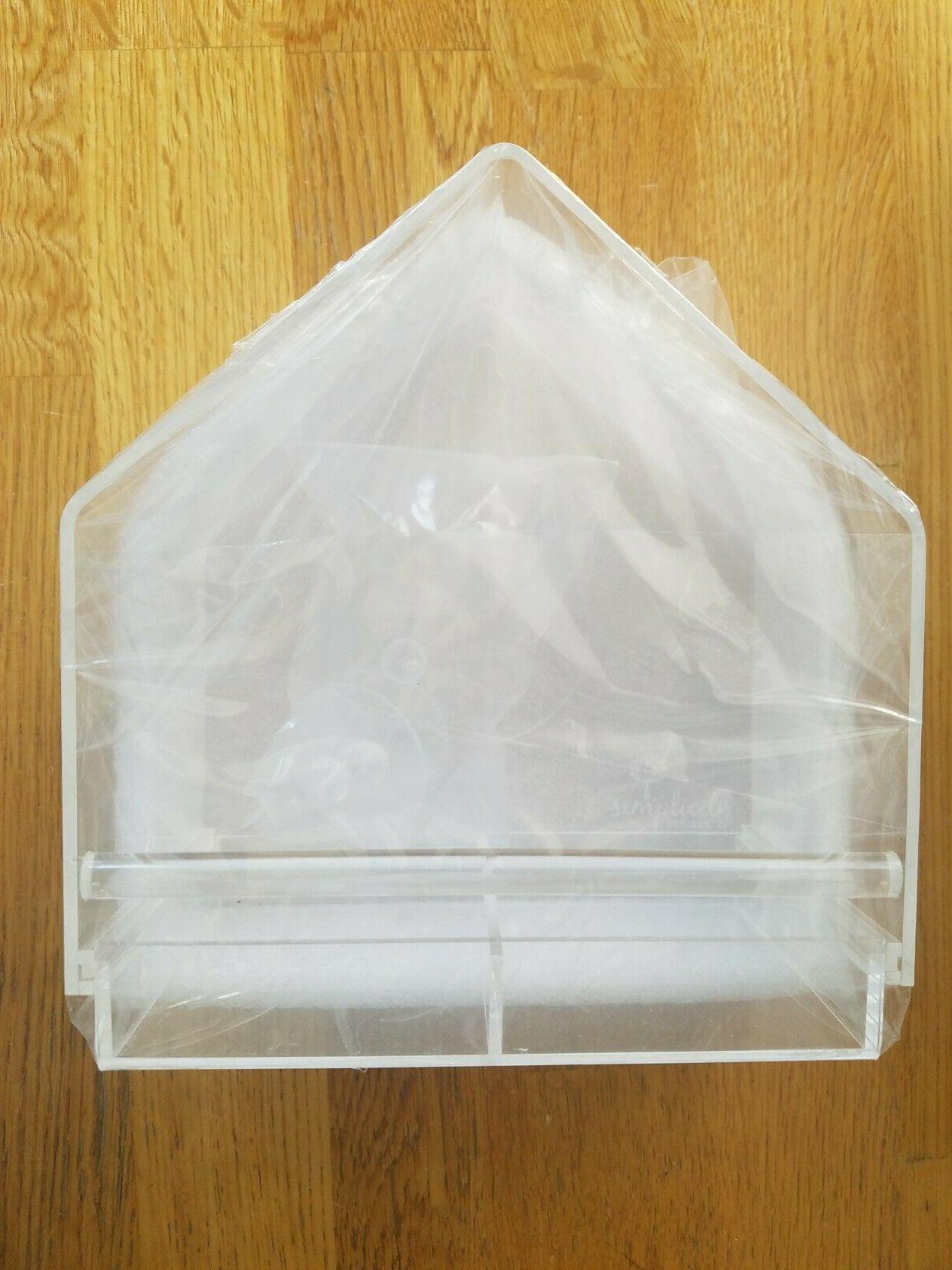 Acrylic Window Bird Feeder with Tray Durable Window Viewing Birdfeeder