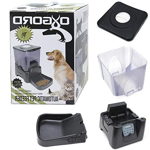 OxGord Automatic Programmable Dog Feeder for Large