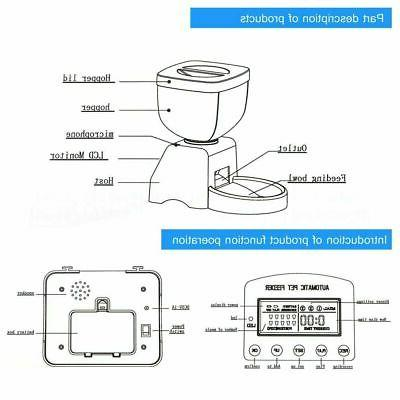 Automatic Feeder Cat Programmable Animal Bowl