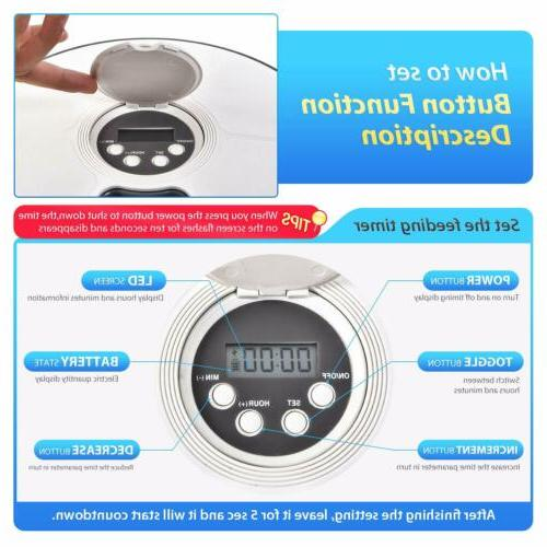 Automatic Pet Feeder Dispenser Animals Timed Meal