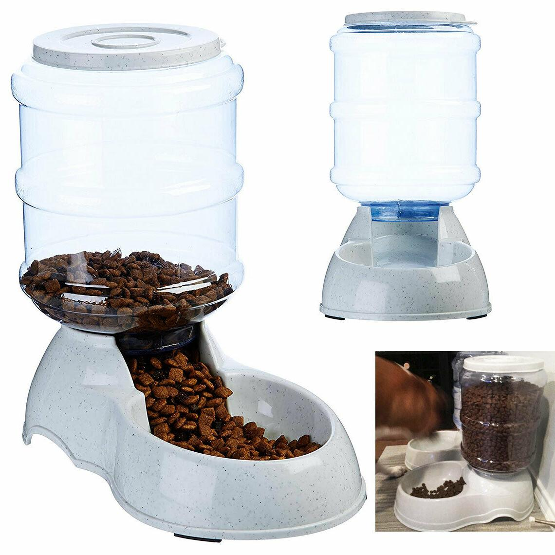 AUTOMATIC PET FOOD DISPENSER for Dog for Cat Feeder Bowl Gra