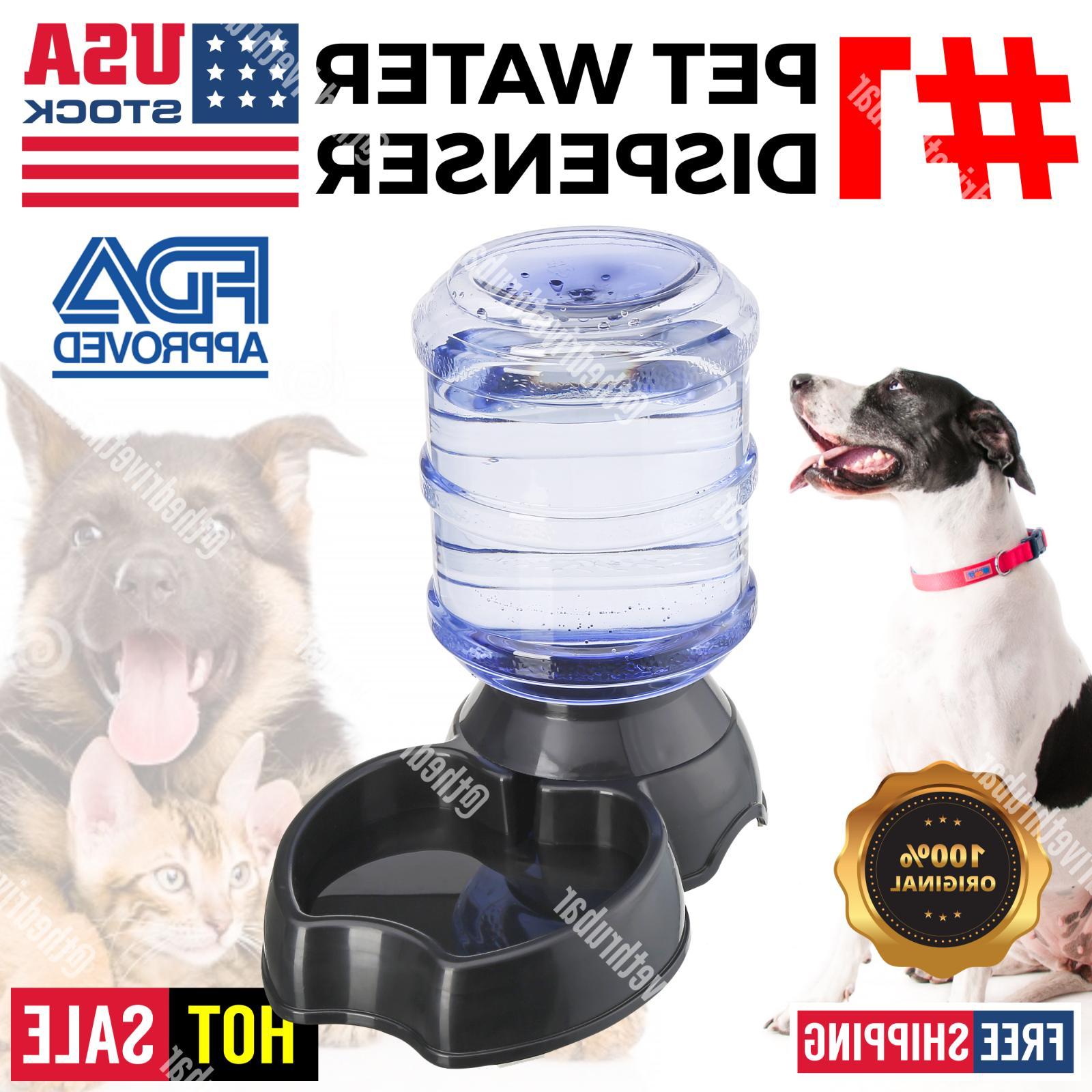 automatic pet water dispenser feeder puppy dish