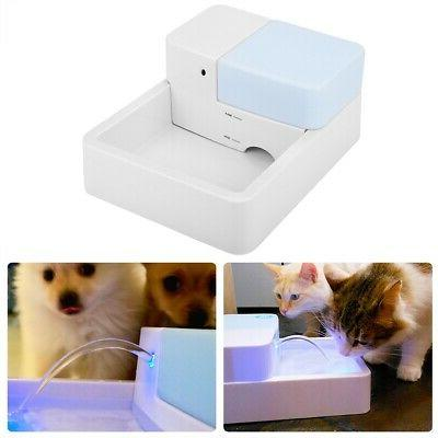 Automatic Pet Drinking Feeder for Dog Cat LED