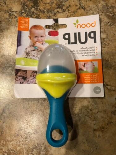 baby feeding pulp silicone feeder green blue