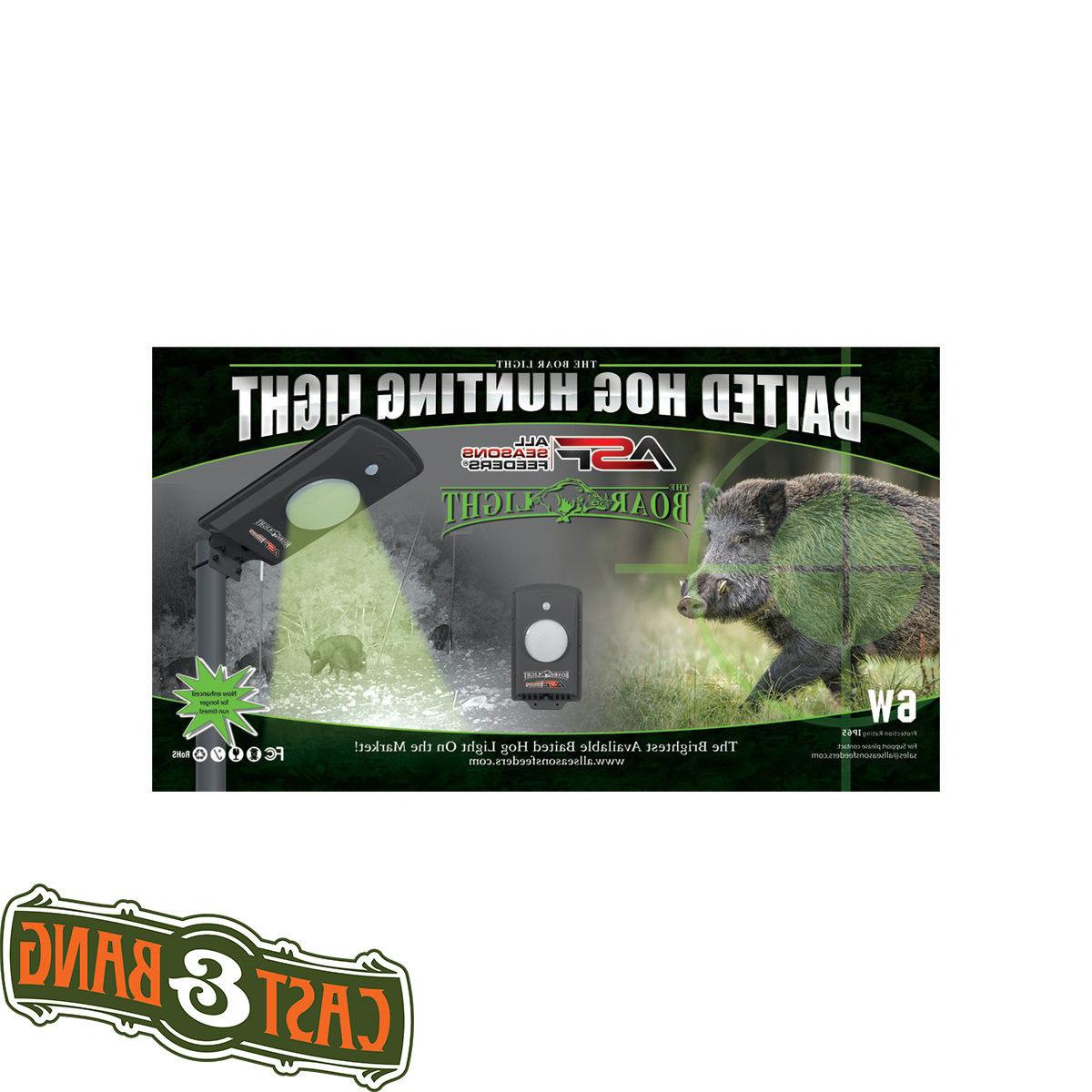 baited boar hog hunting light green led