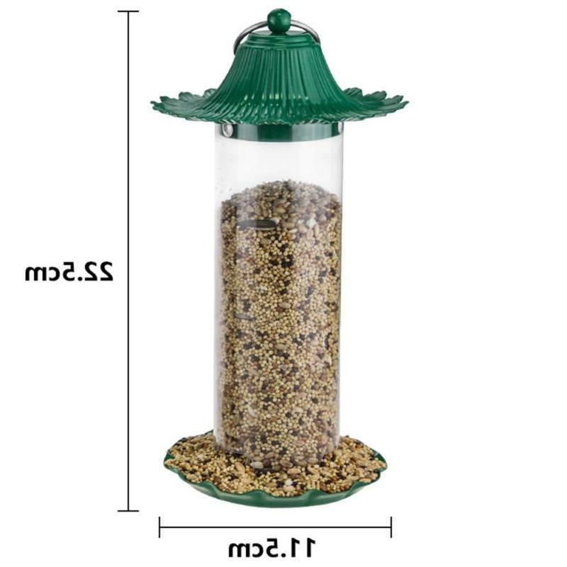Bird Feeder Bird Food Box Rainproof Automatic Outdoor Access