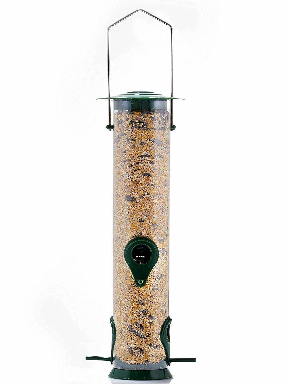 Bird Feeders Vintage Squirrel Proof Hanging Tube Feeder Seed