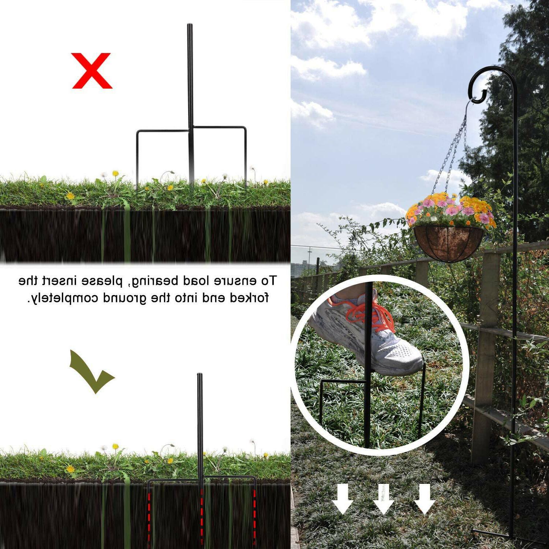 Cerbior Shepherd Hooks Plant Bird Pole