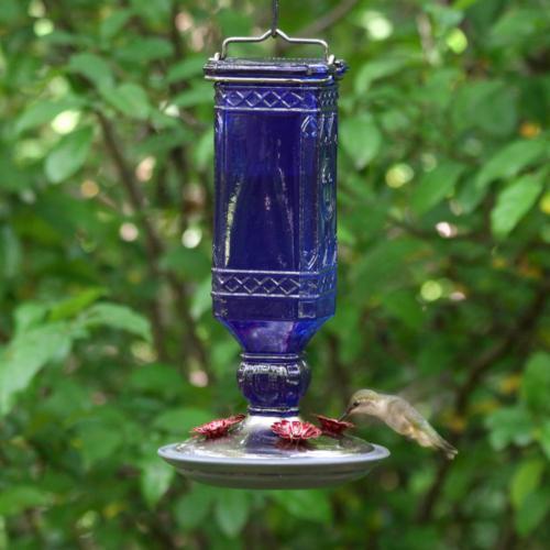Blue Antique Decorative Glass 16