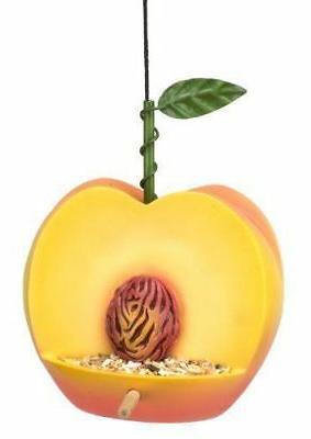 cherry valley peach bird feeder fruit decorative
