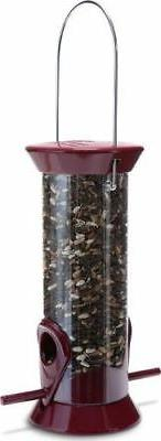Droll New Generation 8 Burgundy Sunflower/Mixed Seed Feeder