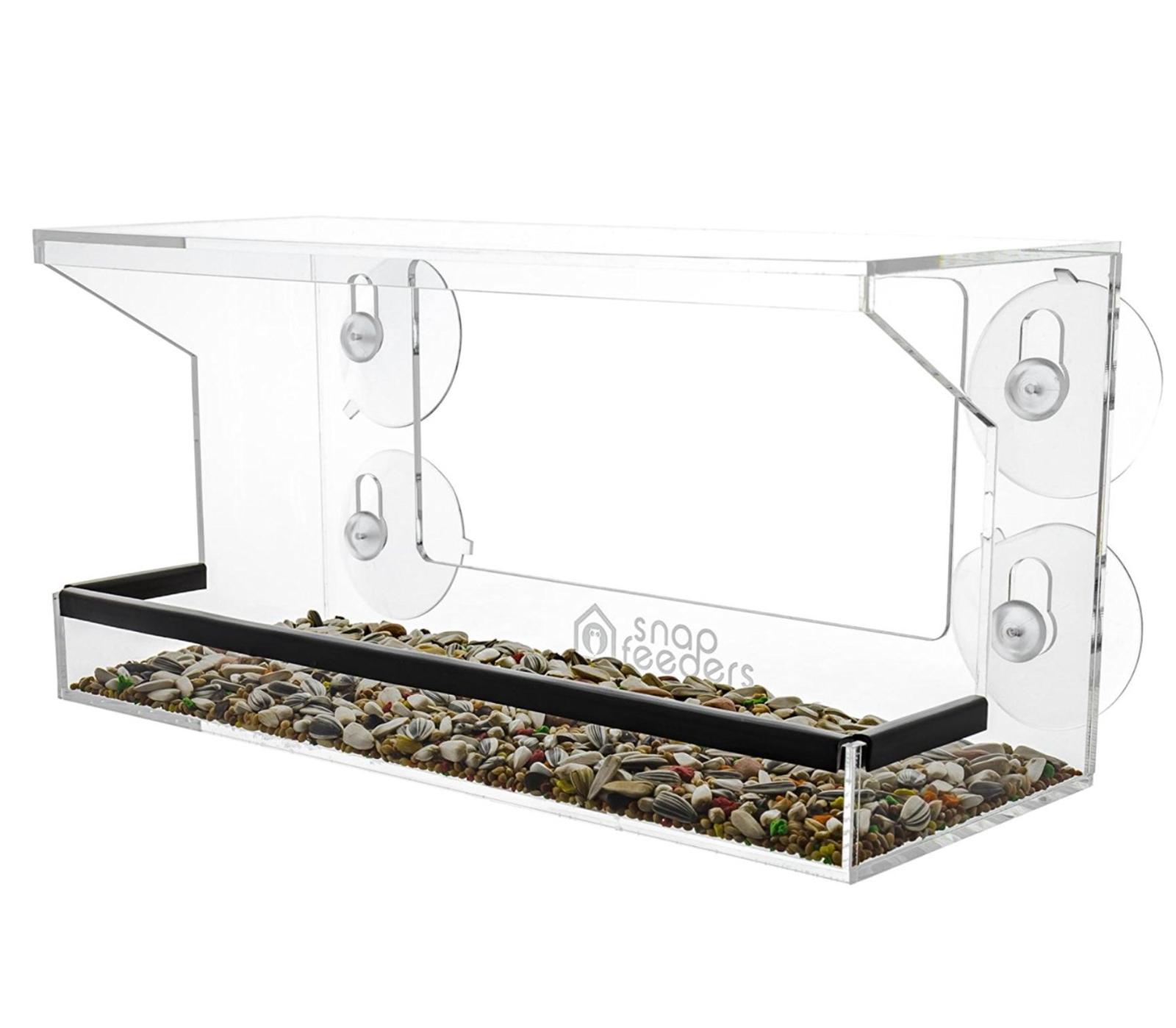 clear acrylic window bird feeder feeders 4strong