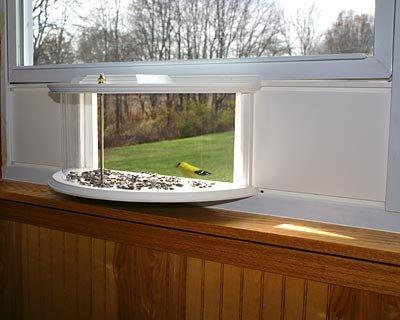 clearview window bird feeder