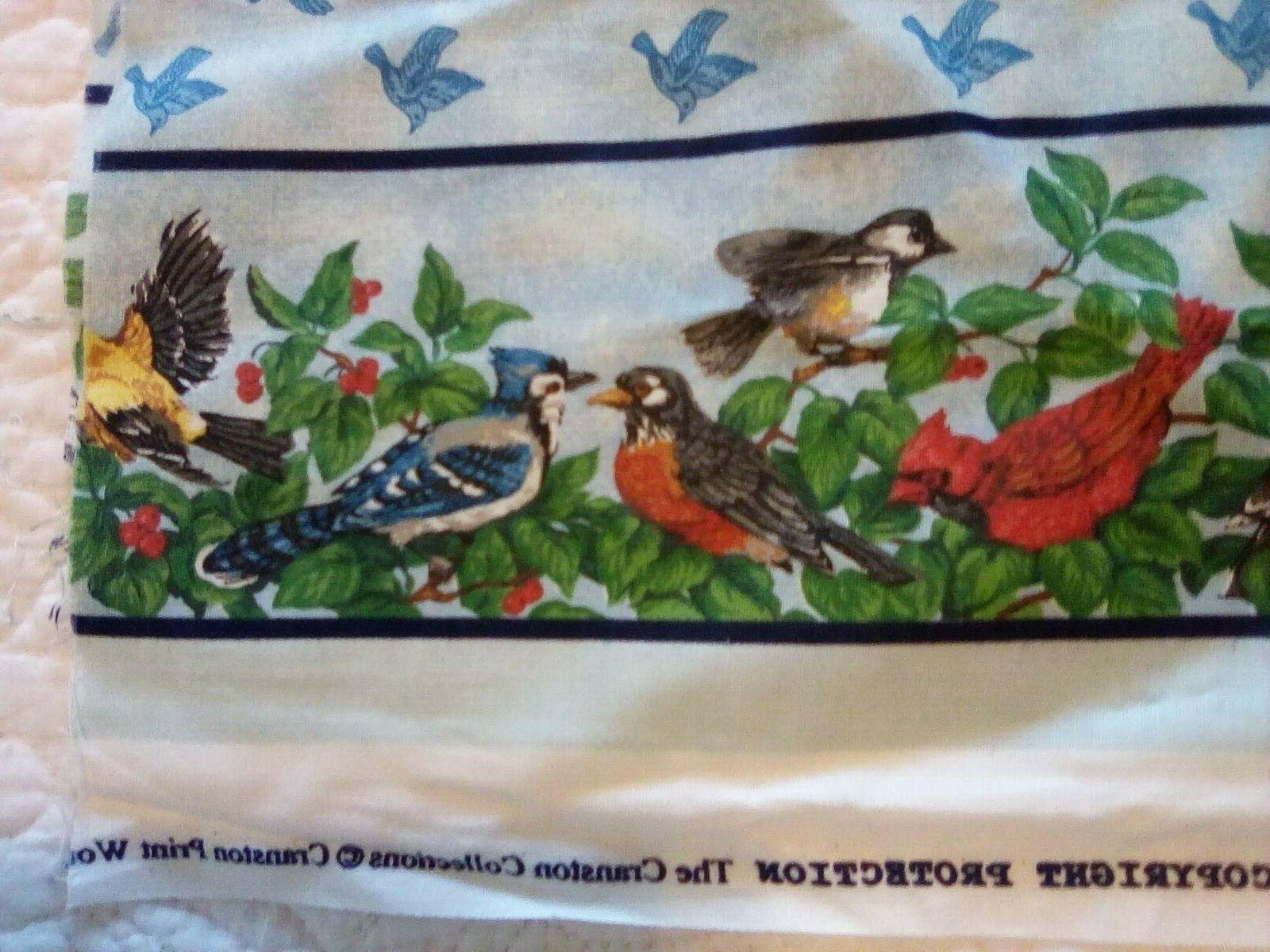 Cranston Collection Fabric Panels Birds Feeder Cats Watching