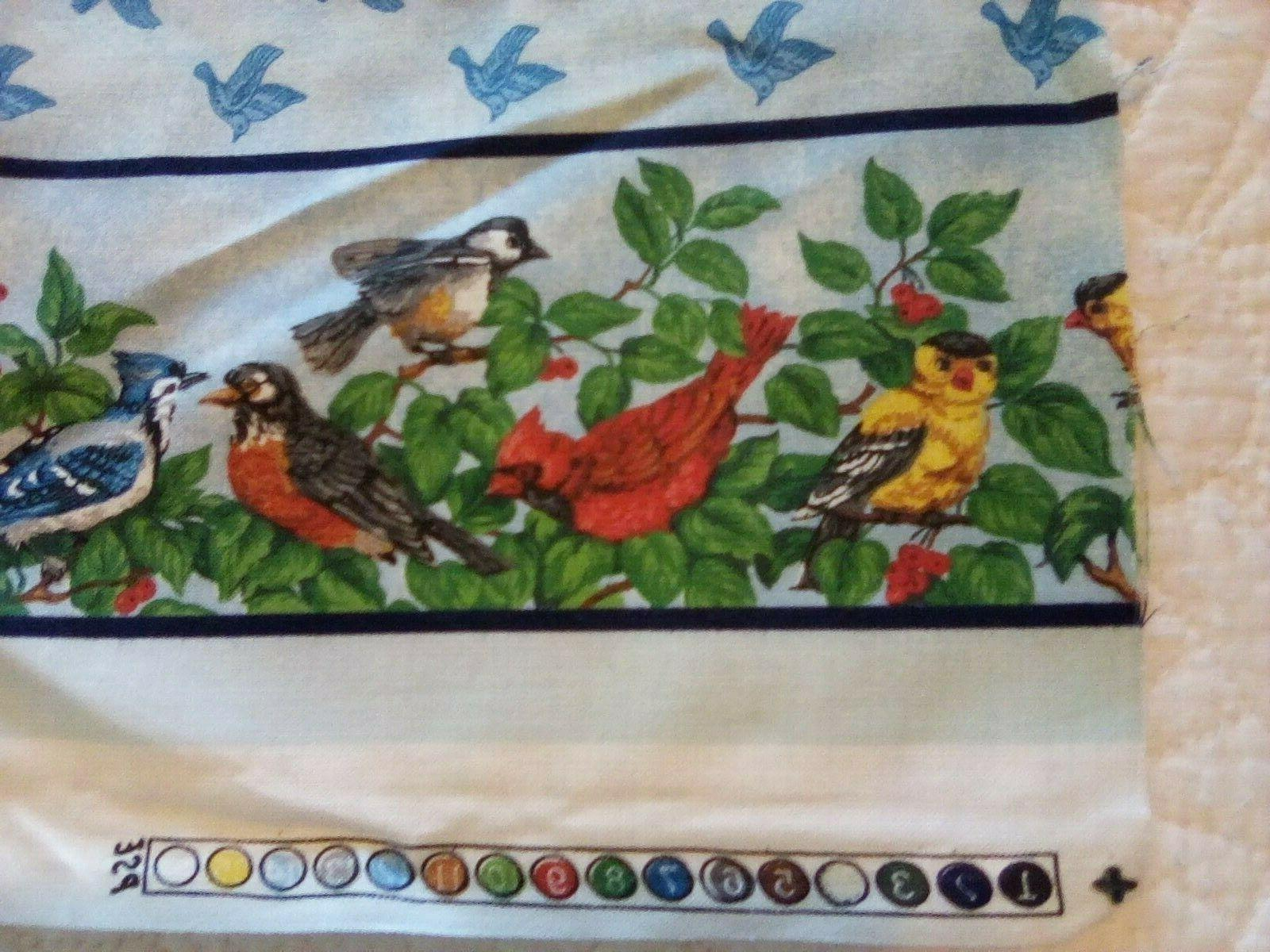 Cranston Collection Cotton Fabric Panels Birds Feeder Cats Watching