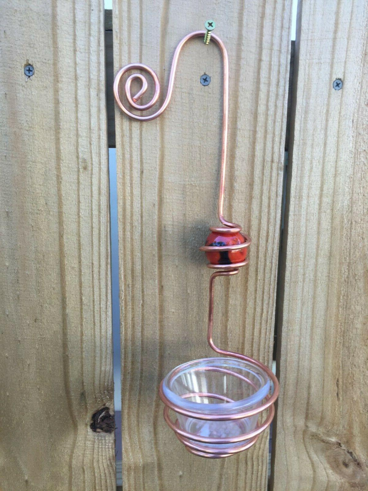Copper Oriole Feeder Handcrafted Bird