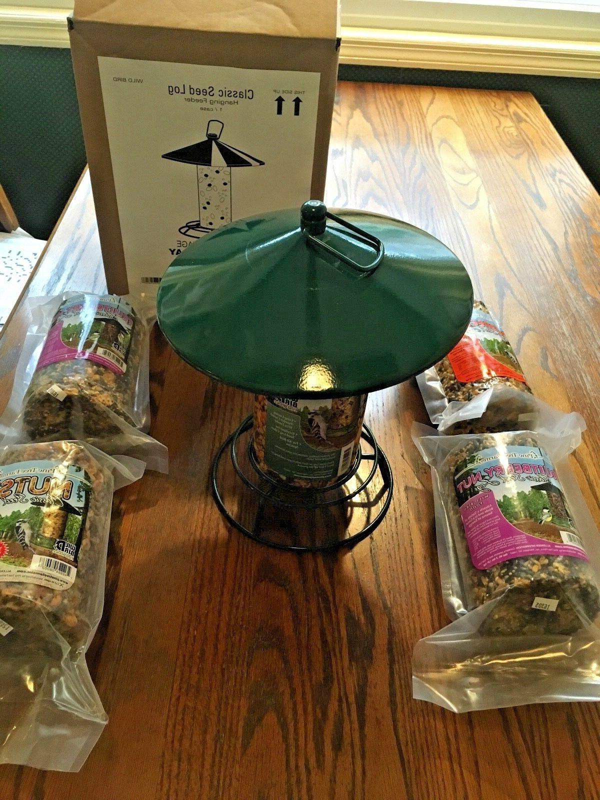 cylinder cake bird feeder