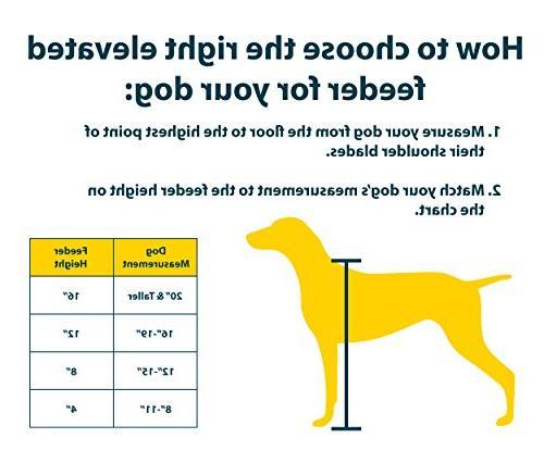 Pet Designer Diner Adjustable Elevated Raised Dog Bowls Dog Feeding Double Stand Stainless
