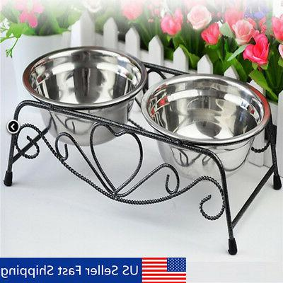 double dog pet bowls dish stainless steel