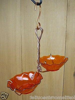 Holland Hill Double Orange Cups Copper Oriole Jelly Jam Hang