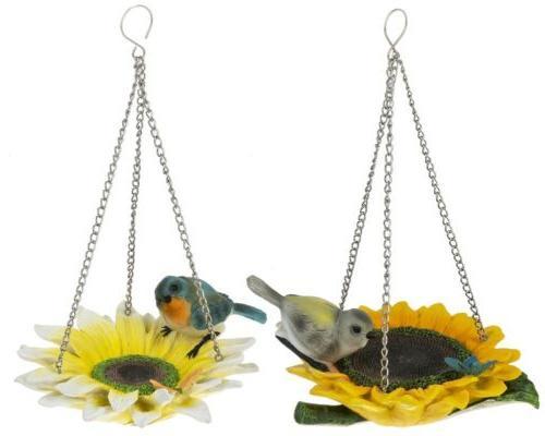 e1 garden resin hanging flower bird feeder