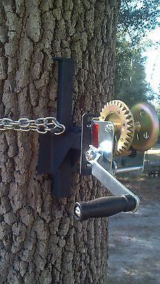EZ - WINCH MOUNT for EZ- Feeder Hanger hand crank hunting ga