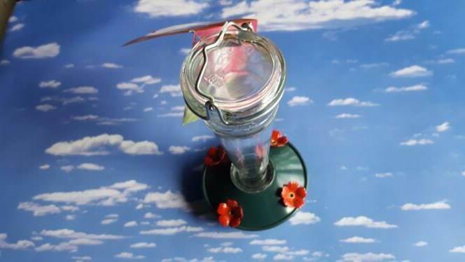 Cherry Feeder Glass Feeder, White