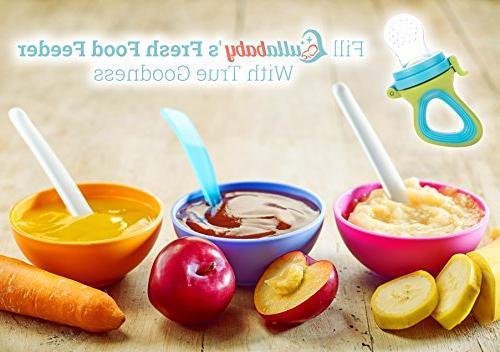 Fresh Feeding 3 Different Pacifiers | Baby Nibbler Food Feeder Teether | Feeding Toys Mesh Feeder Teething |