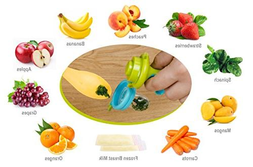 Fresh Food Fruit Feeding Pacifier 3 Different Silicone Pacifiers | Great Nibbler Feeder | Feeding Teething Toys Set Mesh Feeder Teethers |