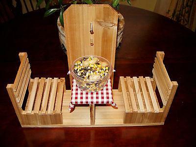 handmade cedar squirrel cafe feeder table