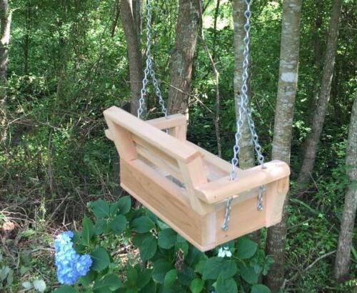 Handmade Cedar Swing Bird /