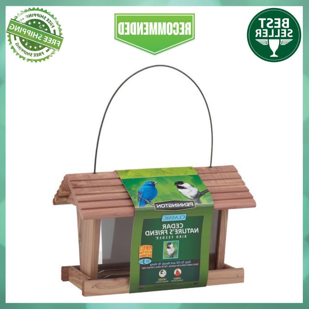 HANGING WILD BIRD FEEDER Pennington Cedar 3 LBS Capacity Fee