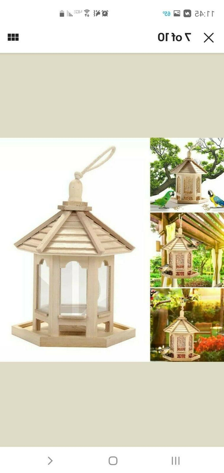 Hanging Wooden Bird Patio