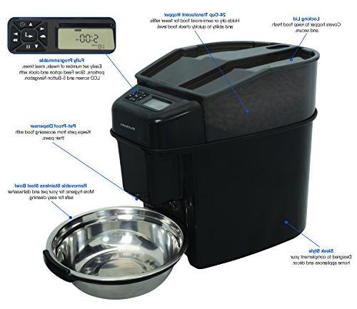PetSafe Healthy Pet Simply Feed Automatic Dispenses Cat Clock