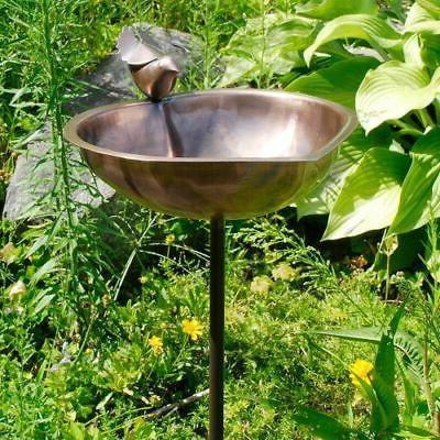 heart shaped bird bath antique