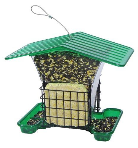 Belle with Suet Holder, Capacity 3.2 qts 4 lbs of seed 2 suet