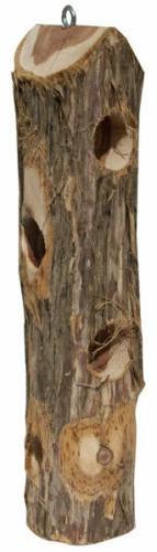 Pine Tree Farms Hornbeam Log Jammer Feeder For Suet Plugs