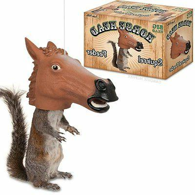 Horse Head Squirrel Feeder by -